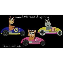 ANIMAL RACERS 2 (set of 3 designs)