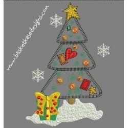 APPLIQUE CHRISTMAS TREE 2
