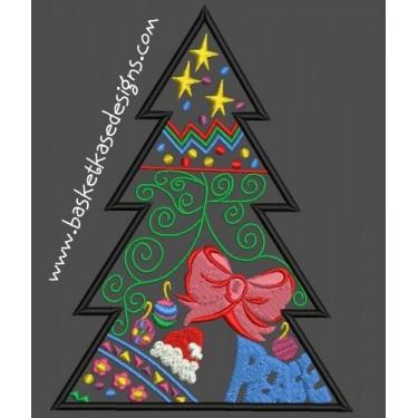 APPLIQUE CHRISTMAS TREE