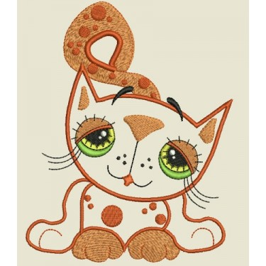 APPLIQUE KITTY TOWEL TOPPER
