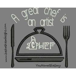 ARTISTIC CHEF APPLIQUE