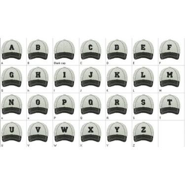 BALL CAP ALPHA (A Thru Z)