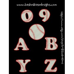 BASEBALL ALPHA- NUMERIC  (A through Z AND 0 through 9)