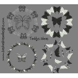 BUTTERFLY CIRCLES (SET OF 4)