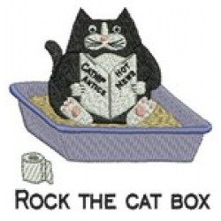 CAT BOX ROCKS