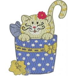 CAT IN BASKET 2