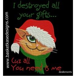 CHRISTMAS CAT HEAD