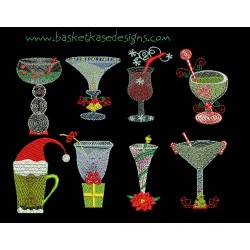 CHRISTMAS DRINKS SET (8 Design Set)