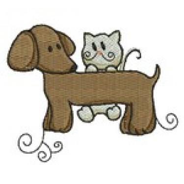 DACHSUND & KITTY