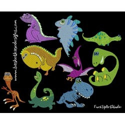 DAFFY DINO SET (SET OF 9 DESIGNS)