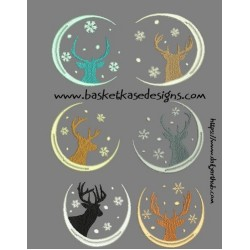 DEER SILOUETTE SET (SET OF 6)
