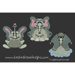 ELEPHANT MINI SET 1 (3 DESIGNS)