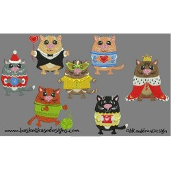 KITTY BITTY SET (SET OF 7 DESIGNS)