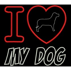 LOVE DOG APPLIQUE