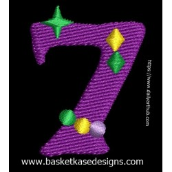 DO NOT ADD TO CART! -  SEE INSTRUCTION ON INFORMATION PAGE  - MARDI GRA ALPHA NUMERIC 7