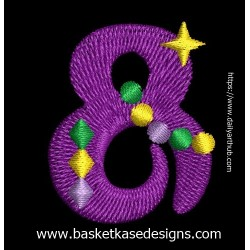 DO NOT ADD TO CART! -  SEE INSTRUCTION ON INFORMATION PAGE  - MARDI GRA ALPHA NUMERIC 8