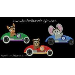 ANIMAL RACERS 1 (set of 3 designs)