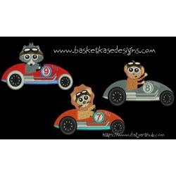 ANIMAL RACERS 3 (set of 3 designs)