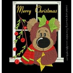 APPLIQUE CHRISTMAS BEAR