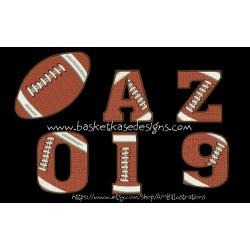 FOOTBALL ALPHA- NUMERIC  (A through Z AND 0 through 9)